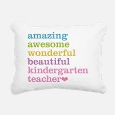 Kindergarten Teacher Rectangular Canvas Pillow
