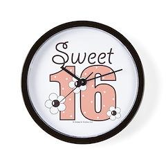 Sweet Sixteen 16th Birthday Wall Clock