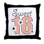 Sweet Sixteen 16th Birthday Throw Pillow