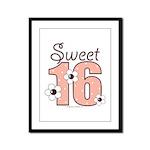 Sweet Sixteen 16th Birthday Framed Panel Print
