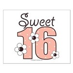 Sweet Sixteen 16th Birthday Small Poster