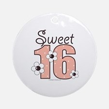Sweet Sixteen 16th Birthday Ornament (Round)
