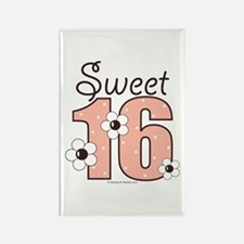 Sweet Sixteen 16th Birthday Rectangle Magnet
