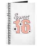 Sweet Sixteen 16th Birthday Pink Brown Journal