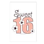 Sweet Sixteen 16th Birthday Postcards 8 Pack