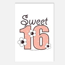 Sweet Sixteen 16th Birthday Postcards 8 Pack