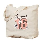 Sweet Sixteen 16th Birthday Pink Brown Tote Bag