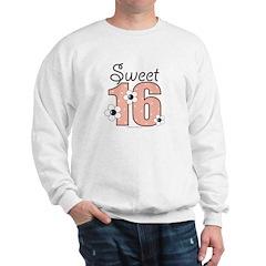 Sweet Sixteen 16th Birthday Pink BrownSweatshirt