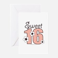 Sweet Sixteen 16th Birthday Blank Cards 10 Pk