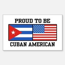 Proud To Be Cuban American Rectangle Decal