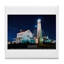 Fenwick Island Lighthouse. Tile Coaster