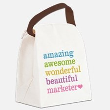 Awesome Marketer Canvas Lunch Bag