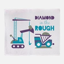 Rough Diamond Throw Blanket