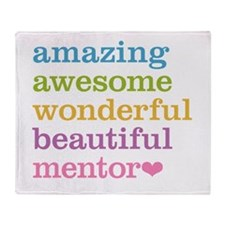 Awesome Mentor Throw Blanket