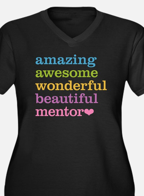 Awesome Ment Women's Plus Size V-Neck Dark T-Shirt