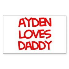 Ayden Loves Daddy Rectangle Decal