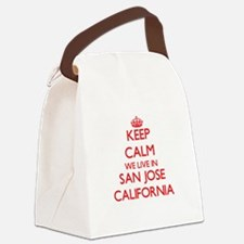 Keep calm we live in San Jose Cal Canvas Lunch Bag