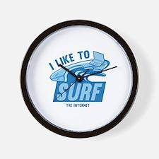I Like To Surf The Internet Wall Clock