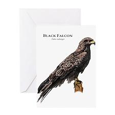 Black Falcon Greeting Card