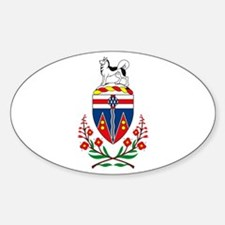 Yukon Coat of Arms Oval Decal