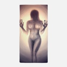 Cute Naked woman Beach Towel