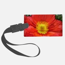 Funny Red poppy Luggage Tag