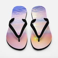 Cute Pink sunrise Flip Flops