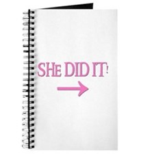 SHE DID IT! (right) Journal