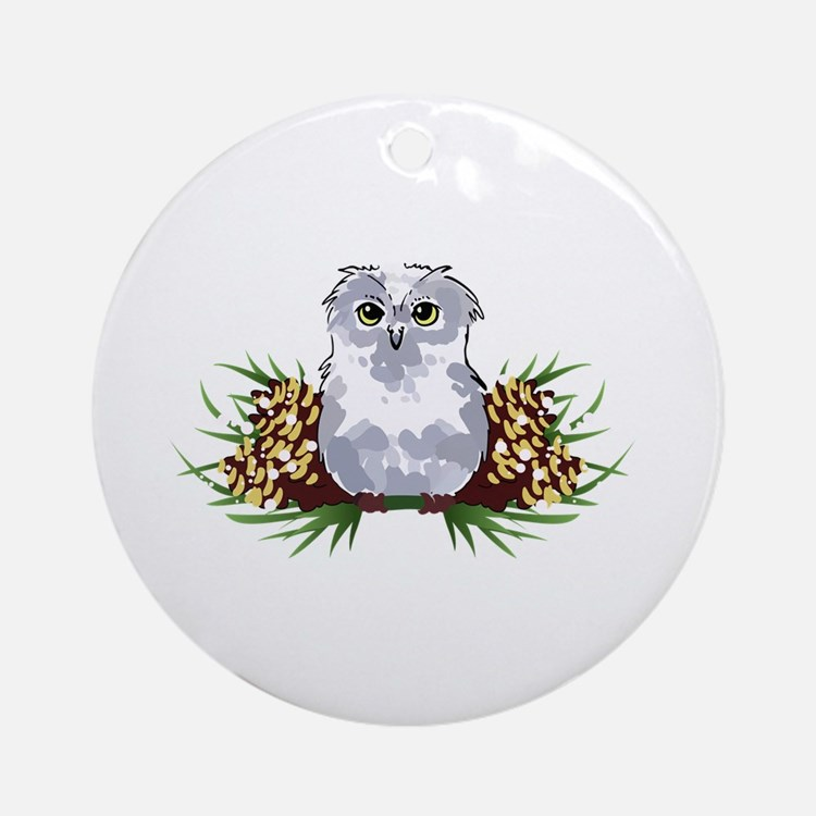 HOLIDAY OWL Ornament (Round)