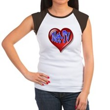 Net-TV Heart Women's Cap Sleeve T-Shirt
