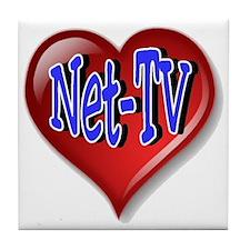 Net-TV Heart Tile Coaster