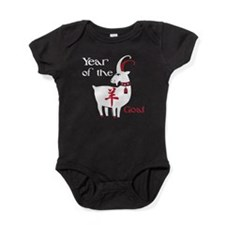 Year of the Goat Red Black Baby Bodysuit