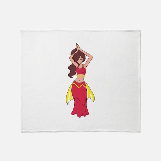 BELLY DANCER Throw Blanket