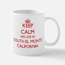Keep calm we live in South El Monte Californi Mugs
