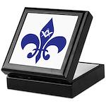 Masonic Fleur De Lis - Blue Keepsake Box