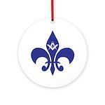 Masonic Fleur De Lis - Blue Ornament (Round)