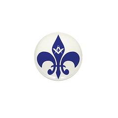 Masonic Fleur De Lis - Blue Mini Button
