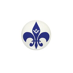 Masonic Fleur De Lis - Blue Mini Button
