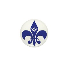 Masonic Fleur De Lis - Blue Mini Button (10 pack)