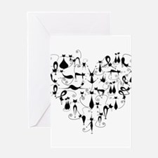 Heart Cats Greeting Cards