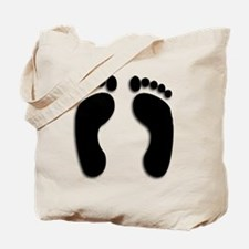 Bare foot Prints Tote Bag