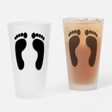 Bare foot Prints Drinking Glass