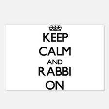 Keep Calm and Rabbi ON Postcards (Package of 8)