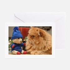 pig and cat Greeting Cards
