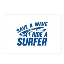 Save A Wave Ride A Surfer Postcards (Package of 8)