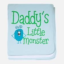 Daddy's Little Monster baby blanket