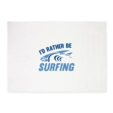 I'd Rather Be Surfing 5'x7'Area Rug