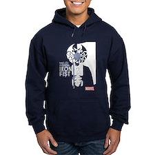 Iron Fist White Blue Hoodie
