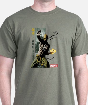 Iron Fist Vertical Cover Painting T-Shirt