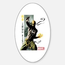 Iron Fist Vertical Cover Painting Sticker (Oval)